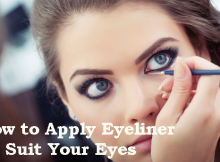 Tips To apply eyeliner