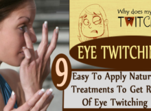 get rid of eye twitching