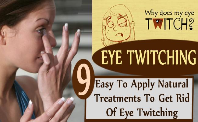 get rid of eye twitching