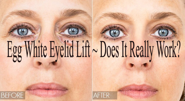 how to apply Egg White to lift Eyelid