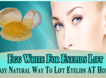 Egg White For Eyelids Lift
