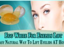 Egg White For Eyelids Lift
