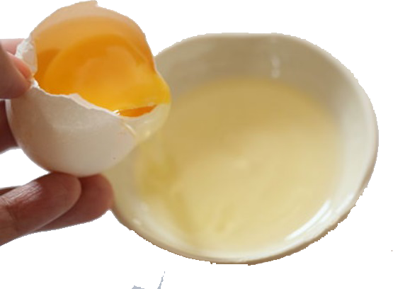 onion and egg white