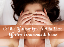 how to get rid of sticky eyelids