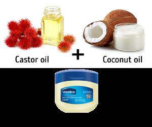 castor oil, vaseline