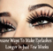 make eyelashes look longer