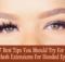 eyelash extensions for hooded eyes