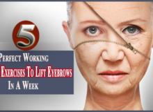 facial exercises to lift eyebrows