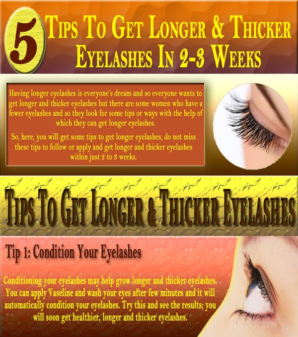 [Infographic]5 Tips To Get Longer & Thicker Eyelashes In 2-3 Weeks